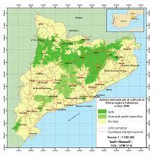 mapa potencial trufa en cataluña